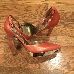 Coral/Orange color heels